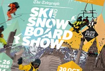 Ski and Snowboard Show poster detail.